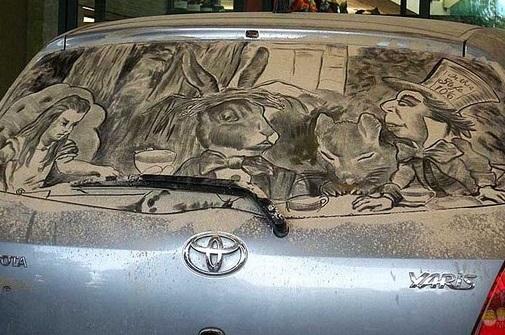 красивый рисунок на авто