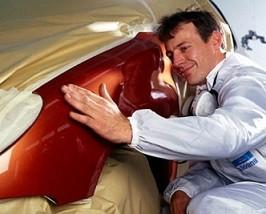 Покраска крыла машины