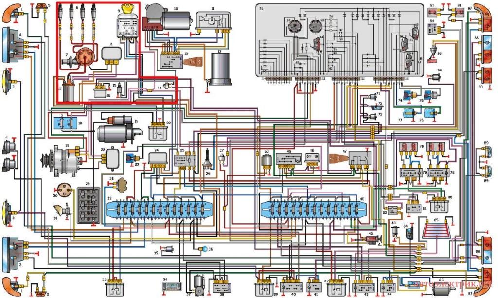 схема проводки газ 3110