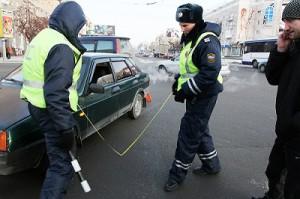 Работа сотрудников ГИБДД в Омске