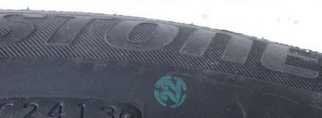 Штамп контроля качества на шинах