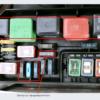 Схема блоков предохранителей для  Toyota Corolla 7 поколение (кузов E100)