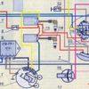 Оригинальная и цветная схема проводки ИЖ Планета 3