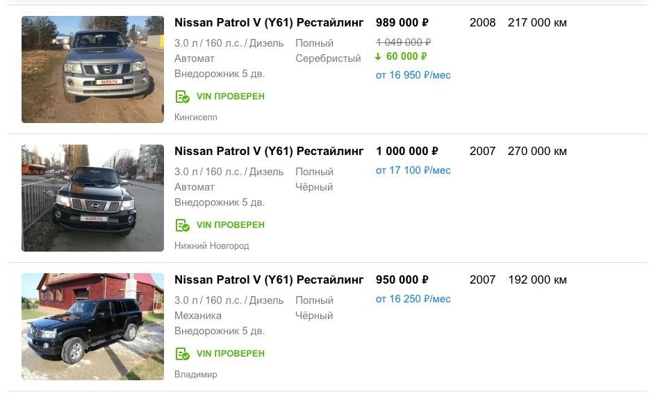 Какой внедорожник купить за 1 миллион рублей в 2019-ом году?