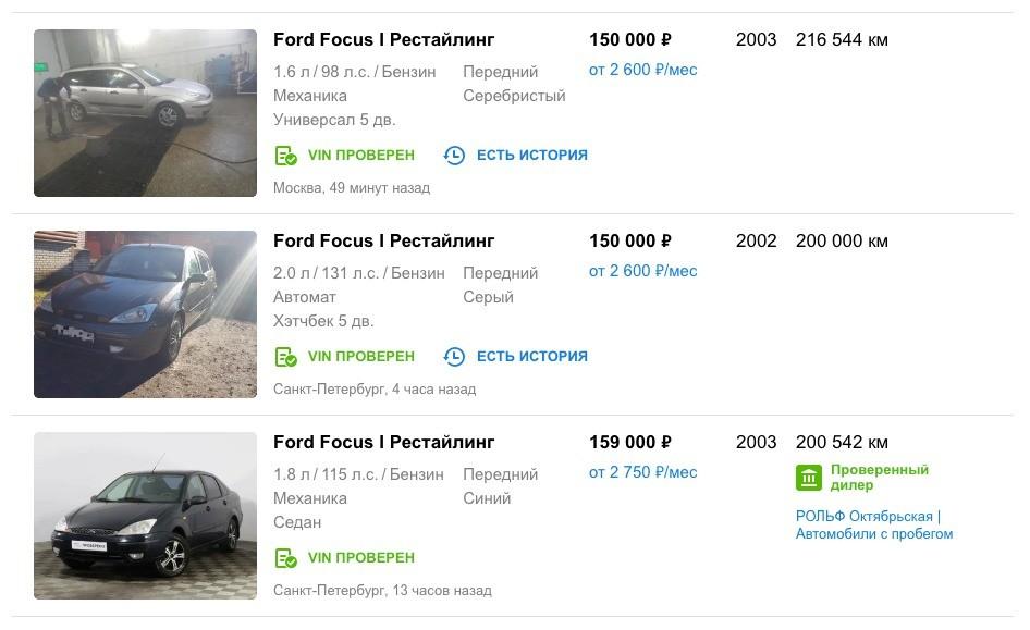 Ford Focus 1 за 150 тысяч рублей