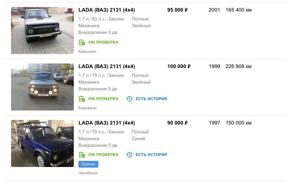 ТОП-8 автомобилей за 100 тысяч рублей: рейтинг лучших