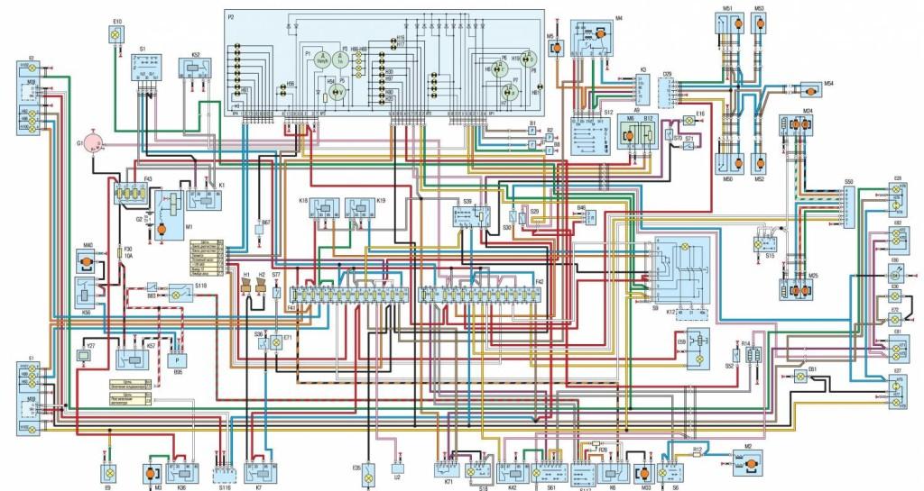 схема электропроводки газ 3110 на инжектор